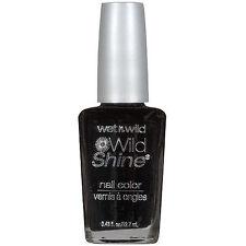 Wet n Wild Wildshine Nail Polish- BLACK CREME C424A Bold To Sheer Glaze of Color