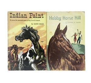 Indian Paint & Hobby Horse Hill 2 Vintage Scholastic PB TX50 T141 Book Set