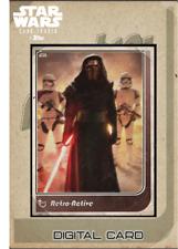 2019 RETRO-ACTIVE 2019 WAVE 1 KYLO REN Topps Star Wars Digital Card