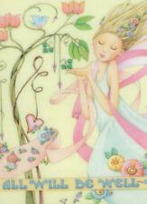 ALL WILL BE WELL Fairy Dancer-Handcrafted Fridge Magnet-W/Mary Engelbreit art