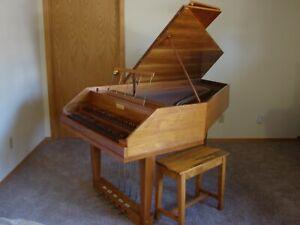 Beautiful 1967 Sabathil Double Manual Harpsichord
