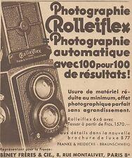 Z9266 Photographie ROLLEIFLEX -  Pubblicità d'epoca - 1932 Old advertising