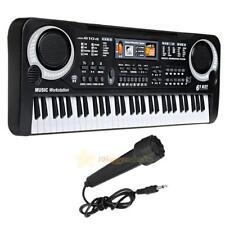 61Keys Electronic Piano Keyboard w/ Microphone Musical Educational Kids Toy Gift