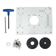 Universal Router Table Insert Plate, Aluminum Alloy, 300 x 235 x 9.5 mm