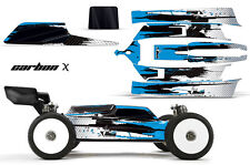 AMR Racing Losi 8IGHT-E 3.0 RC Graphic Kit Decal Wrap 1/8 Buggy Body CARBONX BLU