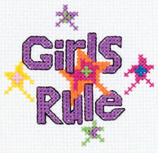 Purple Cross Stitch Finished Embroidered Pieces