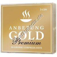 CD-Set: ANBETUNG GOLD Premium - 3 CDs, 50 Songs -  dt. Anbetung, Lobpreis °CM°