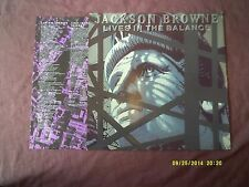 JACKSON BROWNE-LIVES IN THE BALANCE LP + INNER