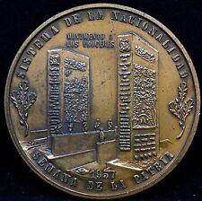 VENEZUELA SISTEMA DE LA NACIONALIDAD 1957 SEMANA DE LA PATRIA BEAUTIFUL MEDAL .