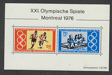 WEST GERMANY MNH STAMP DEUTSCHE BUNDESPOST 1976 OLYMPIC GAMES SHEET SG  MS1781