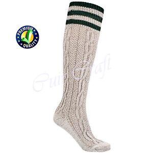 Mens White Bavarian Oktoberfest Socks Long Causal Lederhosen Socks Pairs White