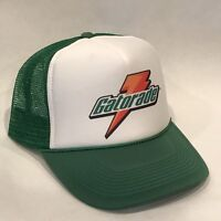Vintage Gatorade Sports Drink Trucker Hat Mesh Snapback Promo Cap Green