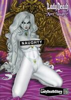 Lady Death: More Naughty! Hardcover Art Book SIGNED by Brian Pulido on INSIDE Co