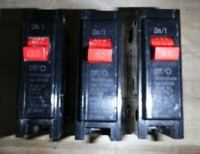 Lot of 3 Used Westinghouse Br120R Single Pole 20 Amp 120V Circuit Breakers, Nr