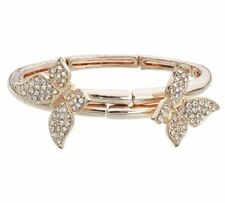 Abbey Clancy Bangle Rose Gold Tone Crystal Butterfly Bracelet, RRP £44.99