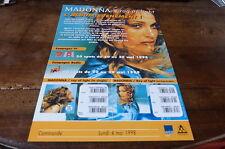 MADONNA - Plan média / Press kit !!! RAY OF LIGHT - ALBUM EVENEMENT !!!