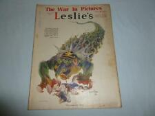 Leslie's Illustrated Weekly Newspaper From July 13th 1918 The War In Pictures
