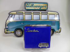 "fin POLYFLAME Étui à Cigarettes ""VW SAMBA"" - bleu Foncé - & - 606524/D"