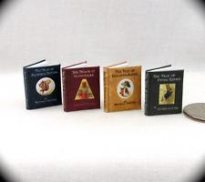 BEATRIX POTTER Books (4) Illustrated Book Set 1:12 SCALE MINIATURE Petter Rabbit