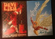 Mark Brooks Devilish Angelic Volume 1 & Volume 2 Artbooks & Sketchbook Set RARE!
