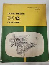 John Deere Operators Manual 105 Combine H90742