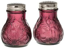 Salt & Pepper Shaker Set - Inverted Thistle - Amethyst Glass - Mosser USA