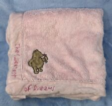 Disney Classic Pink Winnie the Pooh The Sweetest of Dreams  baby blanket