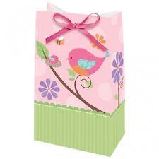 12 süße Geschenktaschen Vogel rosa  Papier Tüten  Geschenkverpackung Mitgebsel