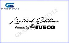 "1 Stück  ""Limited Edition Powerded by IVECO"" LKW Aufkleber - Sticker - Decal !/!"