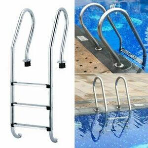 Stainless Steel Swimming Pool Ladder Steps Non-Slip Replacement Tread Screws Inc