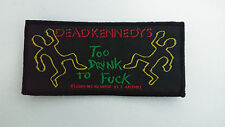 Dead Kennedys Too Drunk 2001 RARE logo music patch Sew On