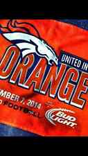 2014 AFC COLTS @ BRONCOS UNITED IN ORANGE BACK TO FOOTBALL RALLY TOWEL - MANNING
