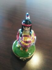 """Limoges Indian Woman with Booket of corn 3.5"""" x 2"""""""