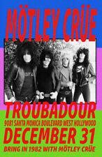 Motley Crue Replica *Troubadour* 1981 Concert Poster