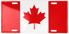 New listing Cananda Country National Flag Aluminum Metal Novelty Car License Plate Sign Tag