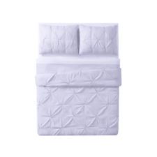 Laura Hart Kids Pinch Pleat Comforter Set purple
