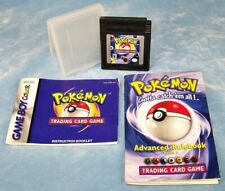 POKEMON NINTENDO GAME BOY Trading Card Game, Instruction Book, Advanced Rulebook
