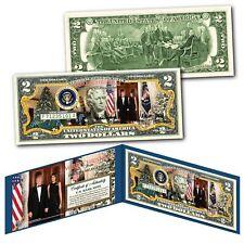 Donald & Melania Trump WHITE HOUSE Presidential MERRY CHRISTMAS Genuine $2 Bill