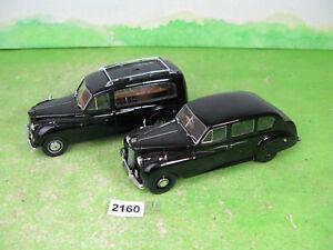 vintage oxford 1/43 diecast models cars princess limousine & hearse 2160