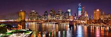 New York City NYC Brooklyn Bridge Manhattan Skyline Panoramic Photo Print 12x36
