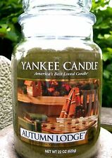 """Yankee Candle """"AUTUMN LODGE"""" Fresh Scented Large 22 oz.~ WHITE LABEL~ NEW!"""