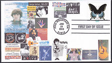 GEORGE HARRISON  of THE BEATLES   LIVING IN THE MATERIAL WORLD   FDC- DWc CACHET
