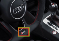 Neuf D'Origine Audi RS3 Volant Badge Emblème 8W0419685G OEM