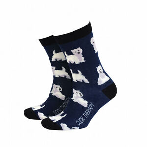 Mens Westie Dog Gift Socks from Sock Therapy by Smiling Faces