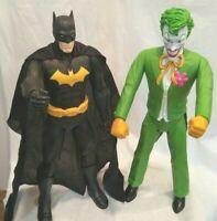 "DC Comics Batman and Joker Action Figures 20"" Tall Plastic Movable Arms Legs."