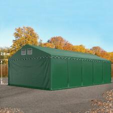 Lagerzelt 5x10 m Zelthalle Weidezelt XXL PVC Zelt mit Bodenrahmen dunkelgrün