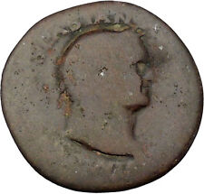 VESPASIAN 71AD RARE Ancient Roman Coin Good luck Cornucopia Wealth i46107