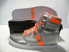 DC ADMRIAL HI SKATE TRAINER SPORTS SNEAKERS WOMEN SHOES SILVER/ORANG SIZE 7 NEW