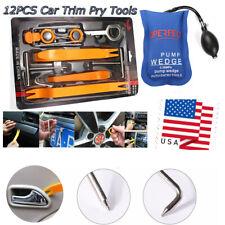 Car Panel Removal Open Pry Tools Kit Dash Door Radio Trim Pump Wedge 13pcs