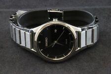 SEIKO Solar Black Dial Stainless Steel Men's Watch - SNE241